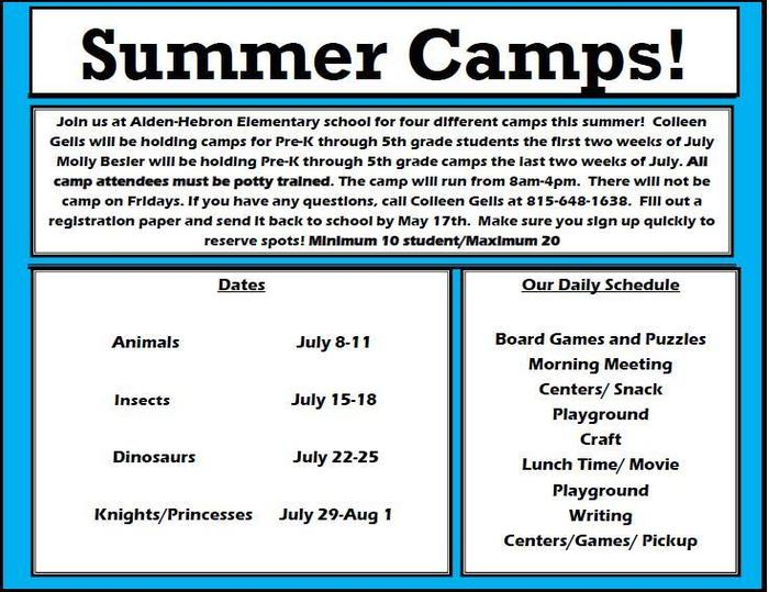 july camps