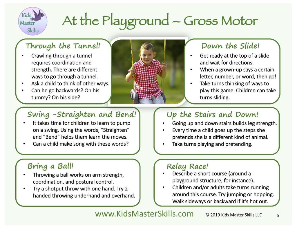 playground gross/fine motor