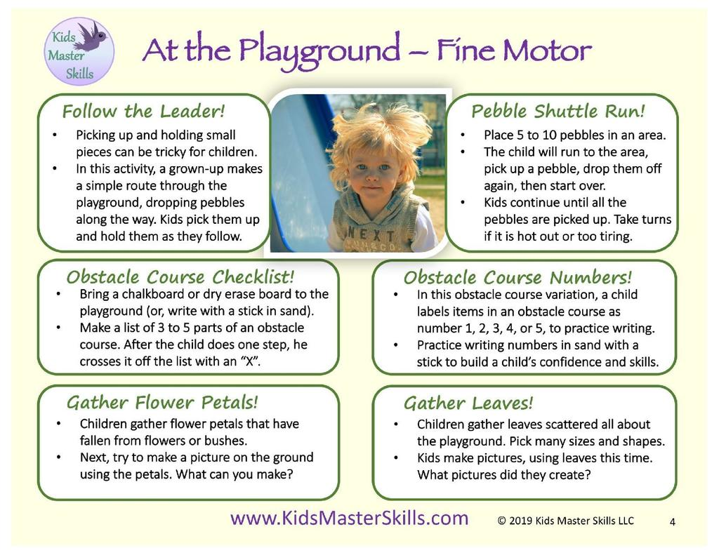 playground fine and gross motor