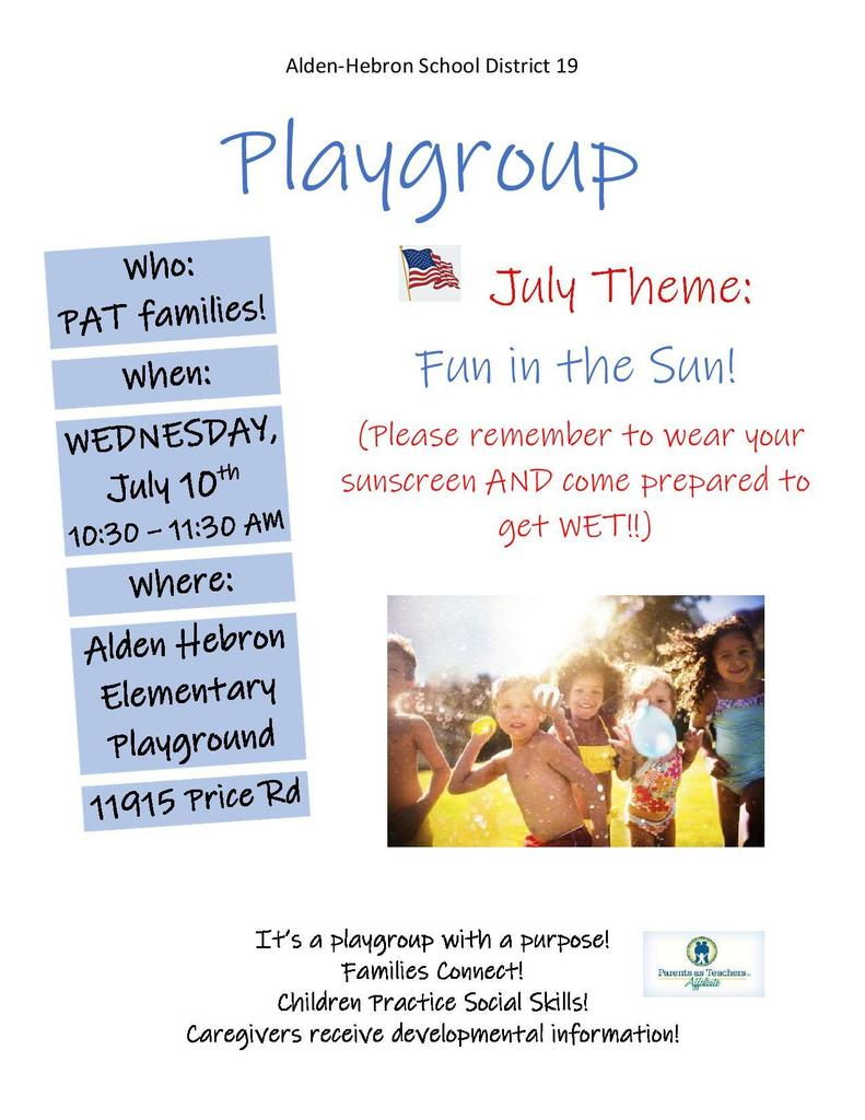 July 10 play group